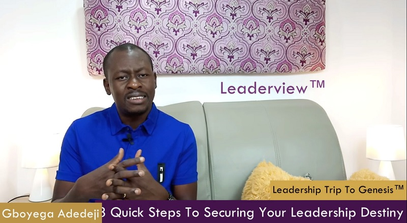 3 Quick Steps To Securing Your Leadership Destiny