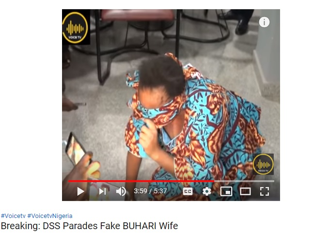 Breaking: DSS Parades Fake BUHARI Wife