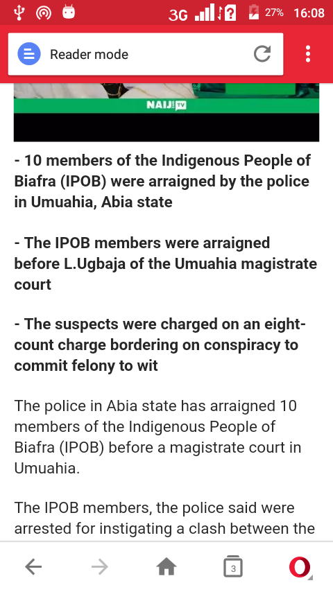 IPOB members Arriagned by police