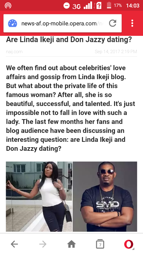 Are Linda ikeji and Don jazzy dating