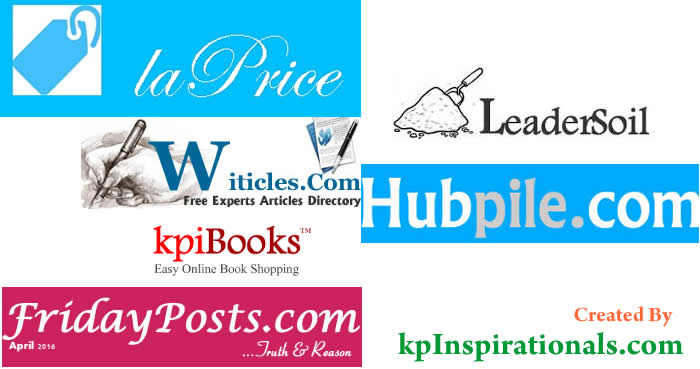 Great Websites Written And Powered By kpInpirationals